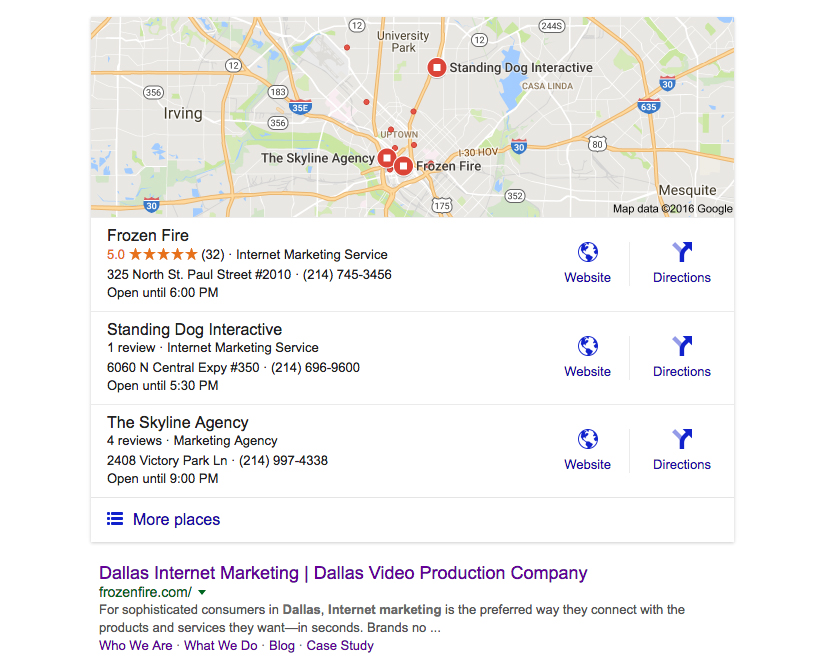 Common SEO Mistake Example SERP