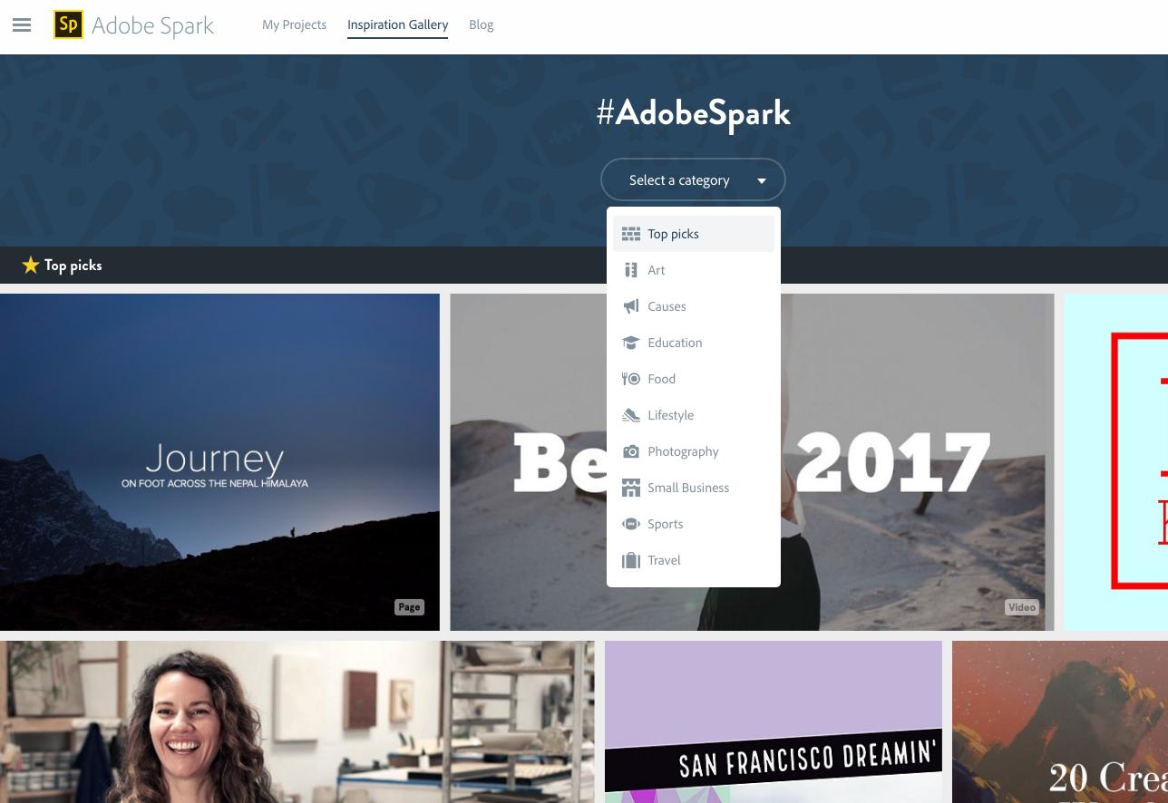 adobe spark free online design tools digital marketing resource