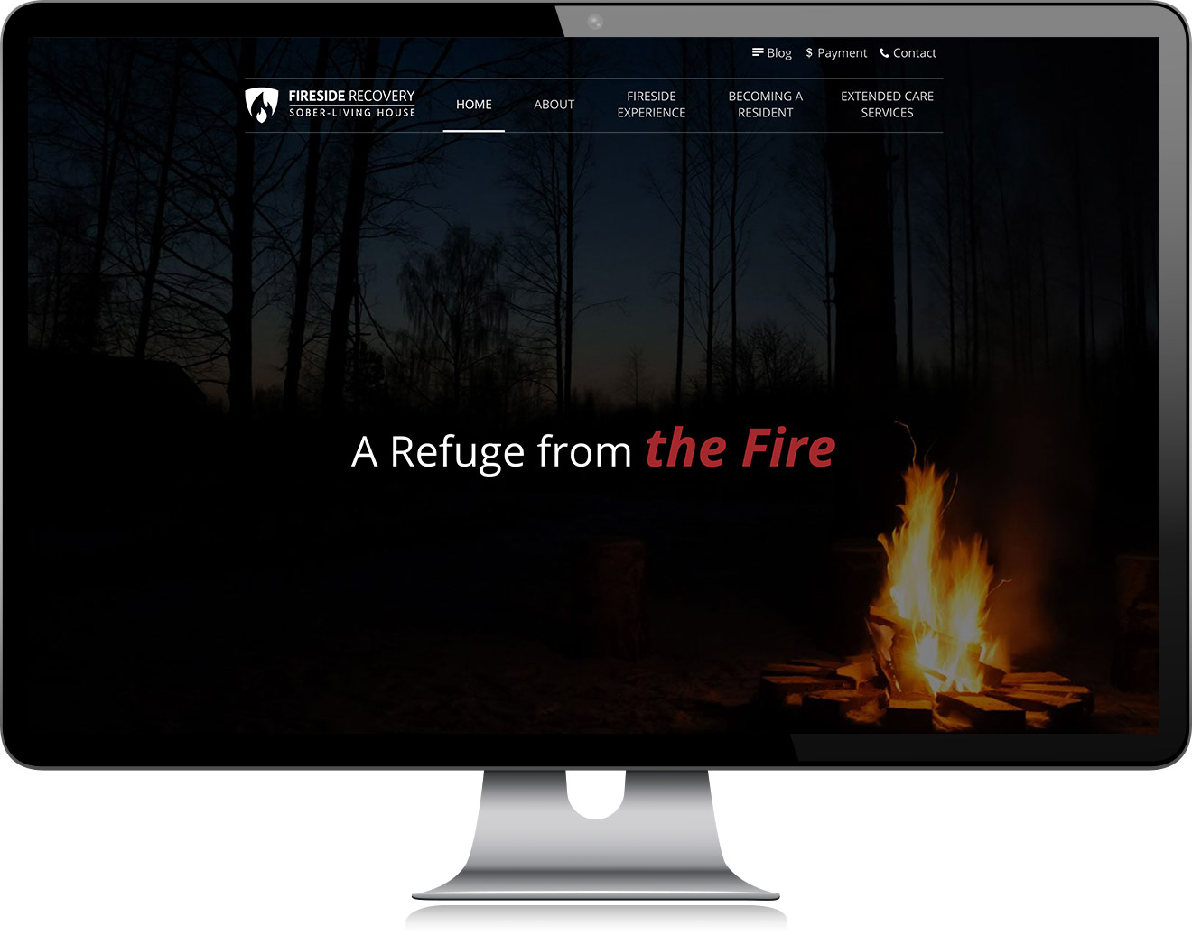 Fireside Recovery Homepage Design