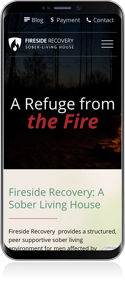 Fireside Recovery Mobile Layout