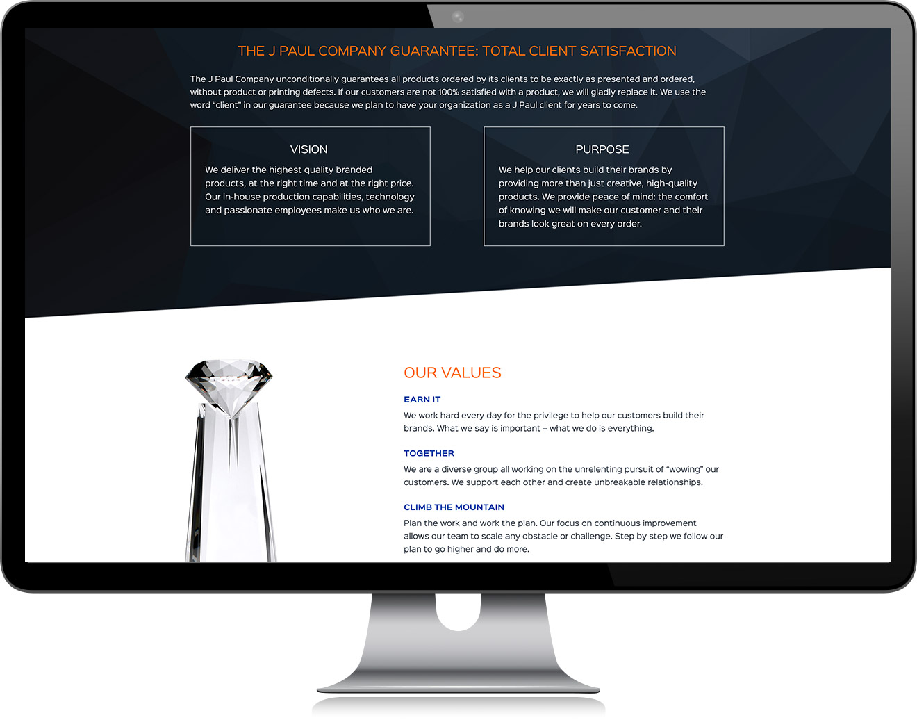 JPaul Co Website Design About Page