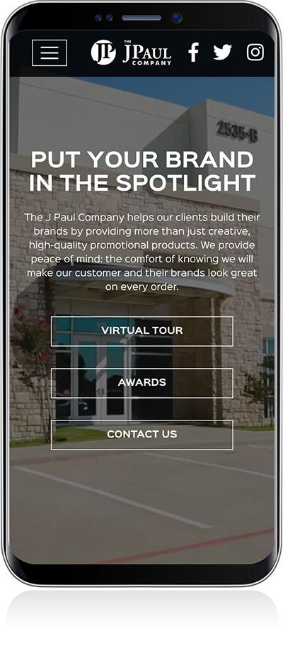 JPaul Co Website Design Mobile
