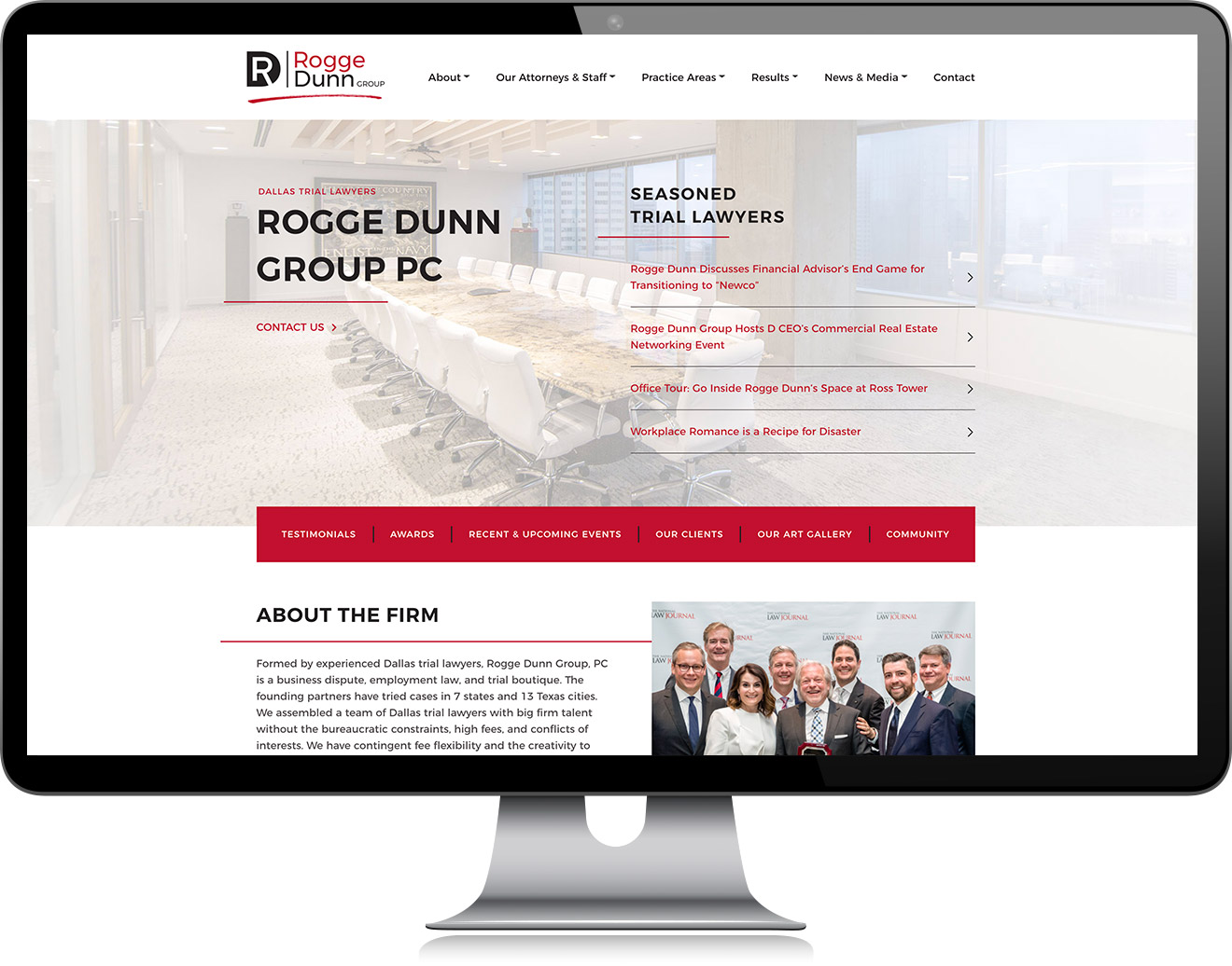 Rogge Dunn Group Website Homepage Design