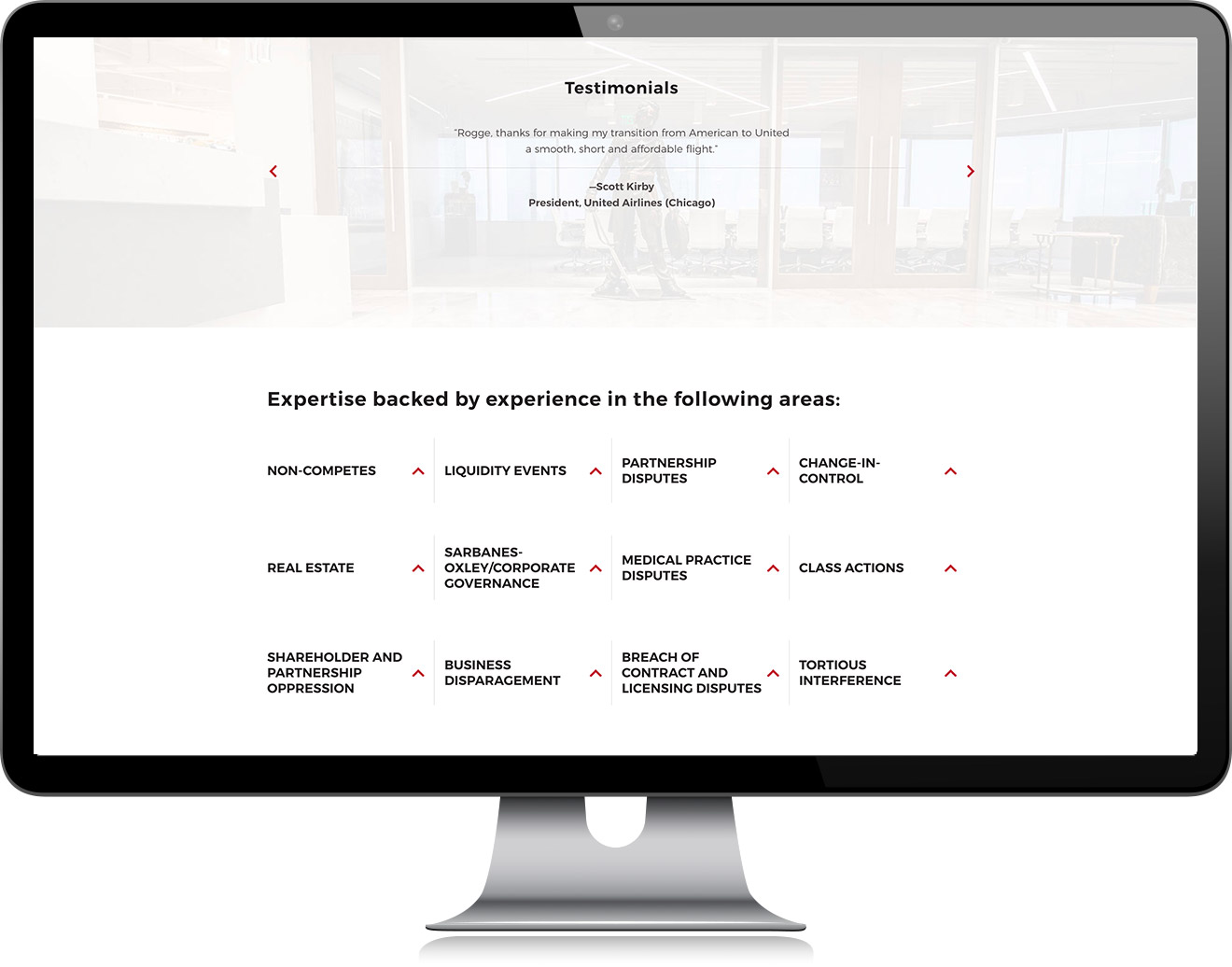 Rogge Dunn Group Services Page Design