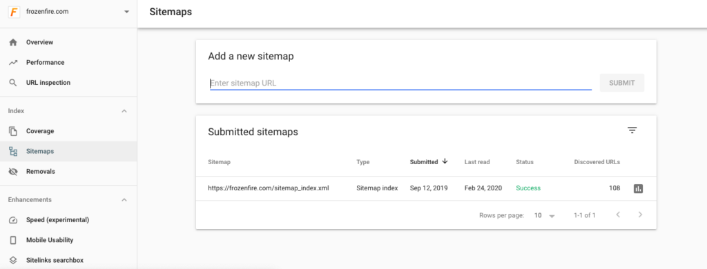 Google Sitemap Submit Tool Screenshot 1